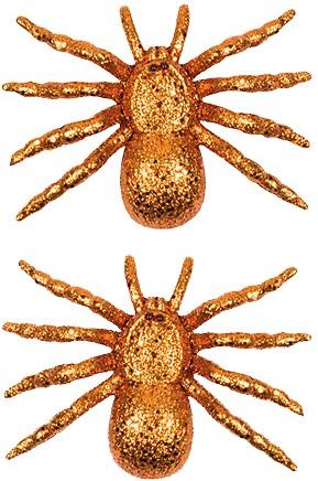 Glitter Spin Oranje 2st. (8x11cm)