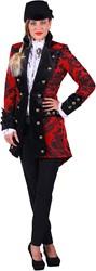 Carnavalsjas Royale Rood-Zwart voor dames