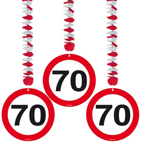Hangdeco 70 jaar Verkeersbord