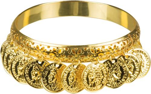 Armband Zigeunerin Goud met Muntjes