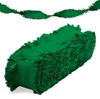 Crepeguirlande Groen Brandveilig (24m)