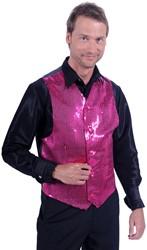 Heren Pailletten Gilet Luxe Pink
