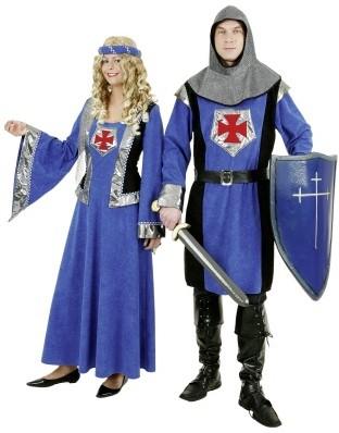 Kostuum Ridder Zwart/Blauw