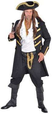Heren Piratenjas Zwart