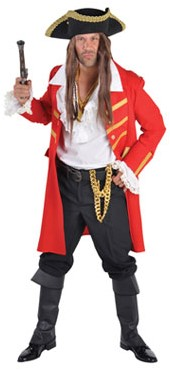 Heren Piratenjas Rood