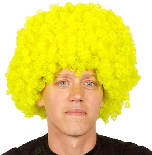 Pruik Afro Groot Geel