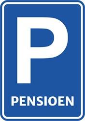 Deurbord Pensioen Parkeerbord 47x33cm