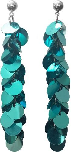 Pailletten Oorbellen Turquoise