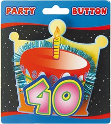 3D Button 40 Jaar