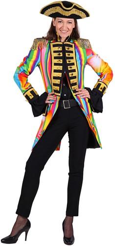 Carnavalsjas Colour Party Rainbow voor dames