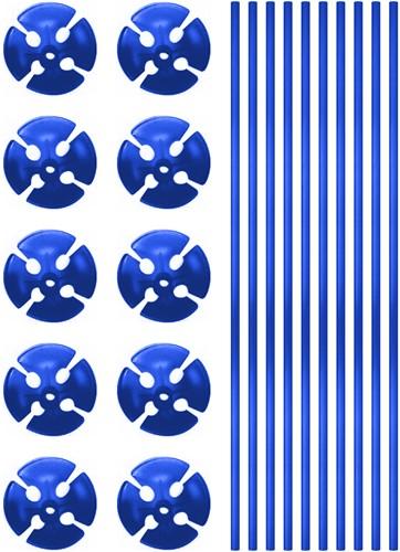 Ballonstokjes Blauw (per stuk)