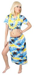 Hawai Set Dames Palm Blauw