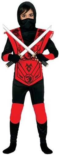 Kinderkostuum Ninja Rood/Zwart