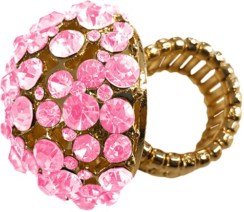 Ring Bling Bling met roze diamanten