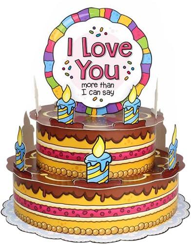 3D Taart Love You!