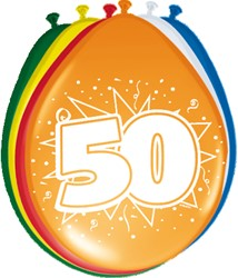 Ballonnen 50jaar 8st