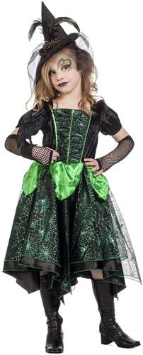 Heksenjurkje Zwart-Groen voor meisjes