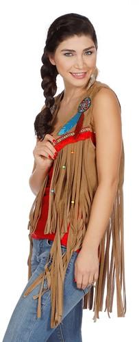 Dames Vestje Indiaanse / Hippie -3