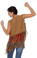 Dames Vestje Indiaanse / Hippie (achterkant)