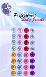 Body Jewel Rondjes 10mm Assorti Kleur 32st.
