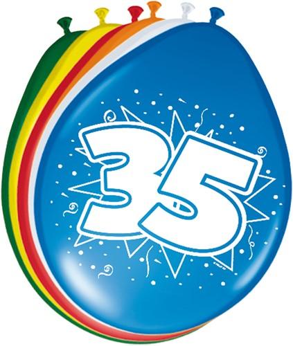 Ballonnen 35 jaar 8st
