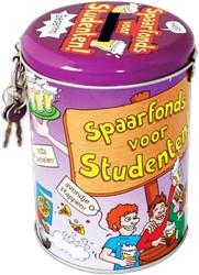 Spaarpot studentenfonds cartoon