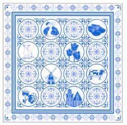 Zakdoek Delftsblauw