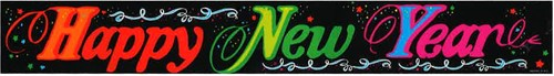 Banner Happy New Year 3,6 mtr