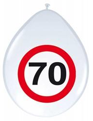 Ballonnen 70 jaar Verkeersbord 8st