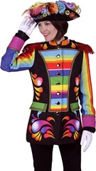 Carnavalsjas Rainbow voor dames