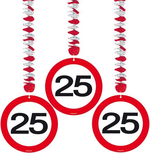 Hangdeco 25 jaar Verkeersbord