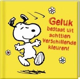 Boek Snoopy Geluk