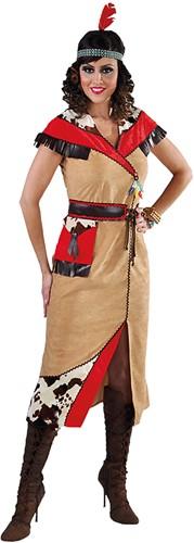 Dames Indianenkostuum Lang (2-delig)