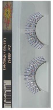 Wimpers Paars/Zilver Strepen en Glitterrand