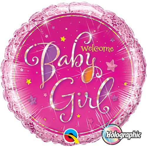Folieballon Welcome baby Girl