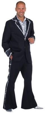 Bling Bling Kostuum Seventies Zwart