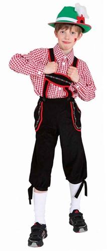Tiroler Broek Zwart voor jongens