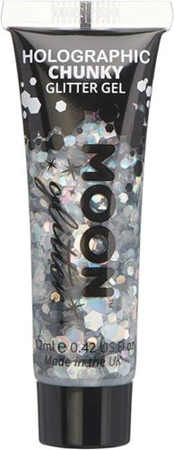 Chunky Holographic Glittergel Zilver (12ml)