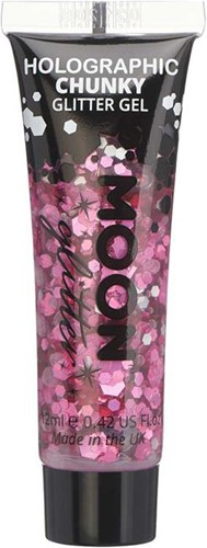Chunky Holographic Glittergel Pink (12ml)