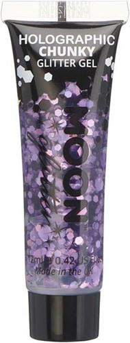 Chunky Holographic Glittergel Paars (12ml)