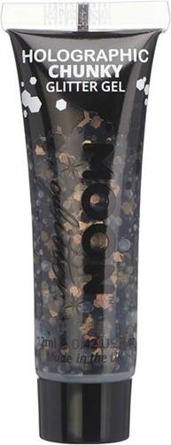 Chunky Holographic Glittergel Zwart (12ml)