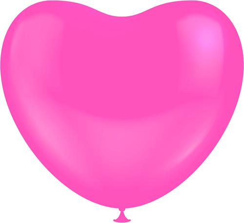 Hartballonnen Pink 38cm (100st.)