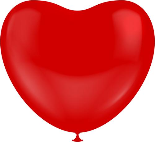Hartballonnen Rood 25cm (100st.)