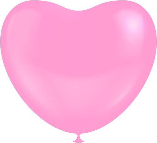 Hartballonnen Roze 25cm (100st.)