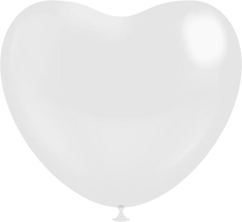 Hartballonnen Wit 25cm (100st.)