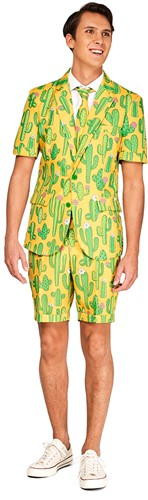 Herenkostuum Summer Suitmeister Yellow Cactus