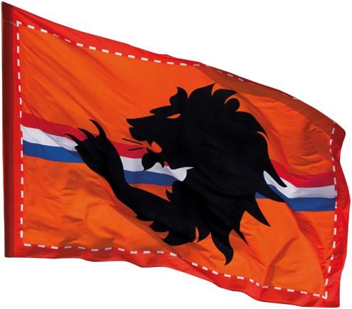 Reuze Vlag Leeuw Oranje 300X200CM