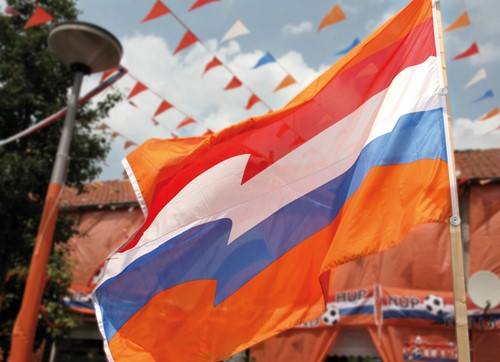 Vlag Oranje XXL 200X300cm (voorbeeld)