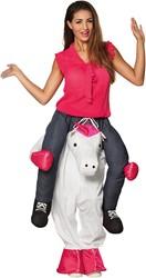 Piggyback Kostuum Unicorn - Eenhoorn