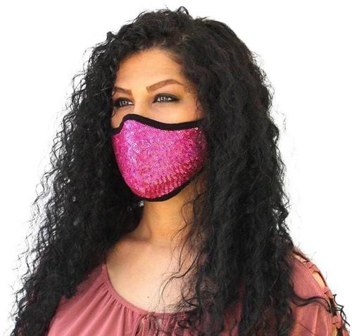 Mondkapje Pailletten Pink